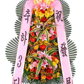 행사용 축하화환 3단 고급형
