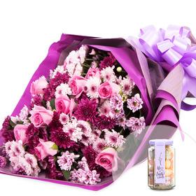 아르그스꽃다발+사탕