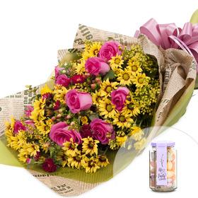 꽃다발 b451+사탕