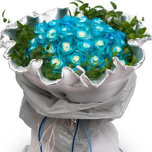 파랑장미꽃다발(예약)