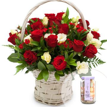 사랑의 파수꾼꽃바구니+사탕