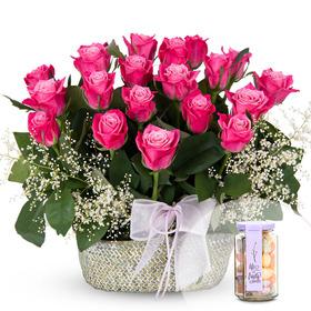 로즈베리꽃바구니+사탕