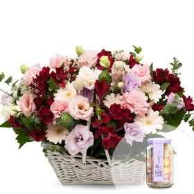 꽃향기 가득꽃바구니+사탕