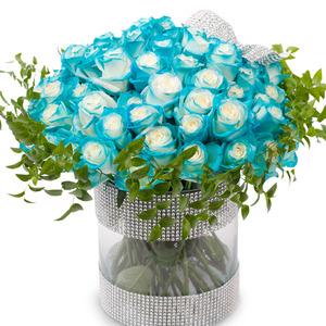 파란장미스틸케이스화병(예약상품)