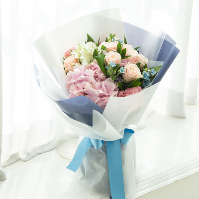 파스텔톤 꽃다발